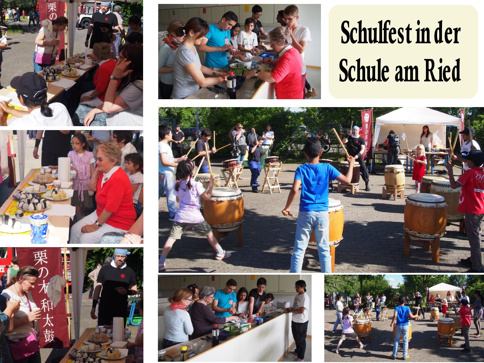 Schulfest-collage
